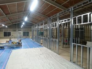 2階塗装室新設