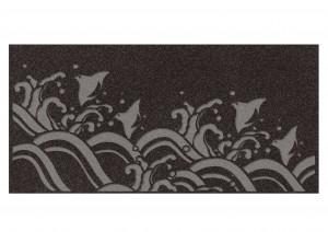 杉山直子家壁墓地銘板イメージ(波に千鳥)